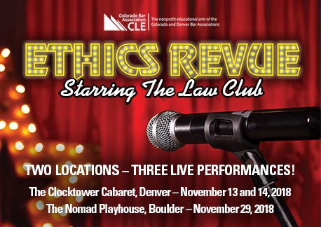 Ethics Revue 2018 in Boulder! @ Nomad Playhouse | Boulder | Colorado | United States